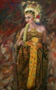 Lukisan ekspresionisme 03 sakral 140x90 acrillic on canvas 2013